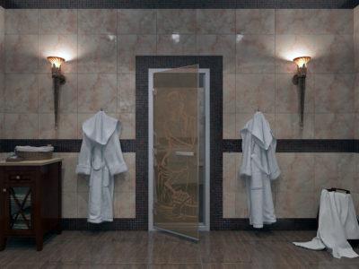 Стеклянные двери для хамама от 13 499 руб!